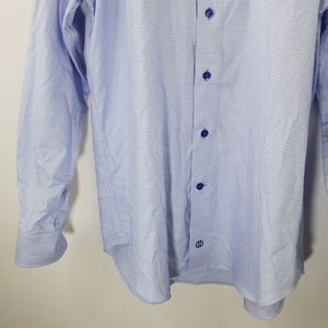 David Donahue Shirts - David Donahue Blue Printed Dress Shirt Size 15.5